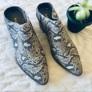 NWT Snake Skin Print York High Heel Clogs